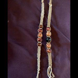 Handmade boho hemp bracelets